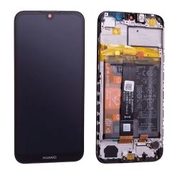 Bloc écran complet pré-monté sur châssis + batterie pour Huawei Y5 (2019)