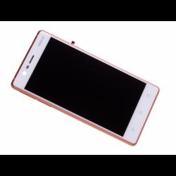 Bloc Ecran Blanc/cuivre avec vitre et LCD prémontés sur châssis pour NOKIA 3 / 3 Dual sim photo 3
