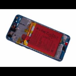 Bloc écran prémonté sur châssis avec batterie pour  Huawei P10 Lite Bleu photo 4