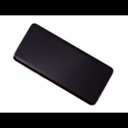 Bloc Ecran Amoled et vitre prémontés sur châssis pour Samsung Galaxy S9 Plus Gold photo 3