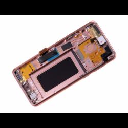 Bloc Ecran Amoled et vitre prémontés sur châssis pour Samsung Galaxy S9 Plus Gold photo 4