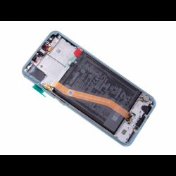 Bloc écran prémonté sur châssis avec batterie pour Huawei Nova 3 Bleu photo 5