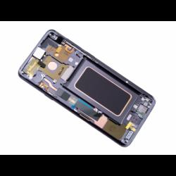 Bloc Ecran Amoled et vitre prémontés sur châssis pour Samsung Galaxy S9 Plus Titanium photo 4