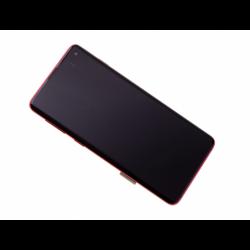 Bloc écran Amoled et vitre prémontés sur châssis pour Samsung Galaxy S10 Rouge photo 0