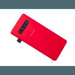 Vitre arrière d'origine pour Samsung Galaxy S10 Rouge photo 0