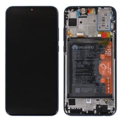 Bloc écran complet pré-monté sur châssis + batterie pour Honor 20 Lite Noir