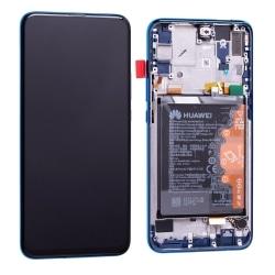 Bloc Ecran Bleu Saphir COMPLET pré-monté sur châssis + batterie pour Huawei P Smart Z