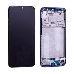 Bloc écran Super Amoled et vitre pré-montés sur châssis pour Xiaomi Mi A3 Bleu