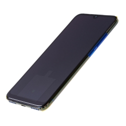 Bloc écran Super Amoled et vitre pré-montés sur châssis pour Xiaomi Mi A3 Bleu photo 1