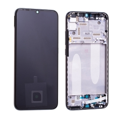 Bloc écran Super Amoled et vitre pré-montés sur châssis pour Xiaomi Mi A3 Noir