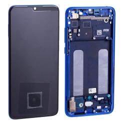 Bloc écran Super Amoled et vitre pré-montés sur châssis pour Xiaomi Mi 9 Lite Bleu Subtil