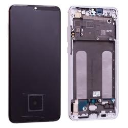 Bloc écran Super Amoled et vitre pré-montés sur châssis pour Xiaomi Mi 9 Lite Blanc