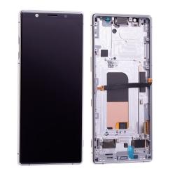Bloc écran OLED pré-monté sur châssis pour Sony Xperia 5 Blanc