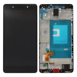 Ecran Noir COMPLET (vitre + LCD) prémontés sur chassis pour Honor 7
