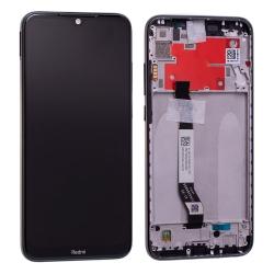Bloc écran IPS LCD et vitre pré-montés sur châssis pour Xiaomi Redmi Note 8T Noir