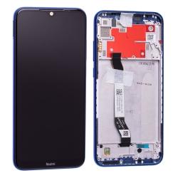 Bloc écran IPS LCD et vitre pré-montés sur châssis pour Xiaomi Redmi Note 8T Bleu