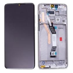 Bloc écran IPS LCD et vitre pré-montés sur châssis pour Xiaomi Redmi Note 8 Pro Blanc
