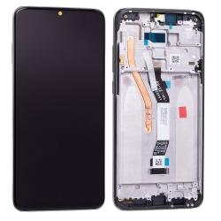 Bloc écran IPS LCD et vitre pré-montés sur châssis pour Xiaomi Redmi Note 8 Pro Noir