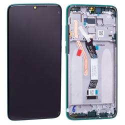 Bloc écran IPS LCD et vitre pré-montés sur châssis pour Xiaomi Redmi Note 8 Pro Vert