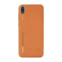 Coque arrière pour Huawei Y5 (2019) Cuir Marron