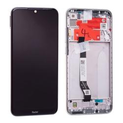 Bloc écran IPS LCD et vitre pré-montés sur châssis pour Xiaomi Redmi Note 8T Blanc Lunaire