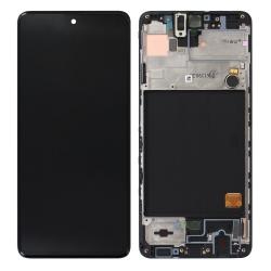 Bloc écran Super Amoled et vitre pré-montés sur châssis pour Samsung Galaxy A51 Noir