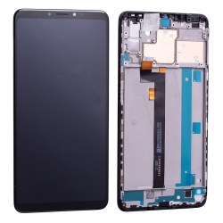 Bloc écran IPS LCD et vitre pré-montés sur châssis pour Xiaomi Mi Max 3 Noir