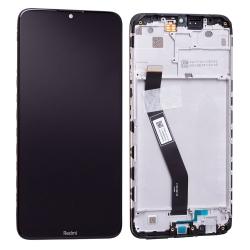 Bloc écran IPS LCD et vitre pré-montés sur châssis pour Xiaomi Redmi 8 Noir Minéral