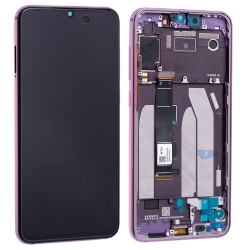Bloc écran Super AMOLED et vitre pré-montés sur châssis pour Xiaomi Mi 9 SE Violet