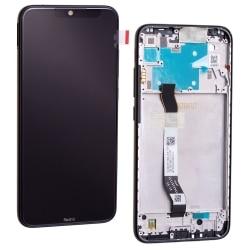 Bloc écran IPS LCD et vitre pré-montés sur châssis pour Xiaomi Redmi Note 8 Noir