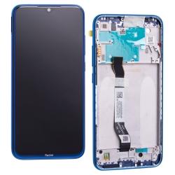 Bloc écran IPS LCD et vitre pré-montés sur châssis pour Xiaomi Redmi Note 8 Bleu