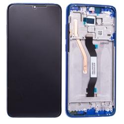Bloc écran IPS LCD et vitre pré-montés sur châssis pour Xiaomi Redmi Note 8 Pro Bleu Océan