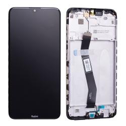 Bloc écran IPS LCD et vitre pré-montés sur châssis pour Xiaomi Redmi 8A Noir