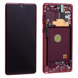 Bloc écran Super AMOLED Plus pré-monté sur châssis pour Samsung Galaxy Note 10 Lite Rouge photo 4