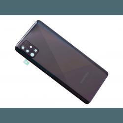 Vitre arrière pour Samsung Galaxy A51 Noir Prismatique