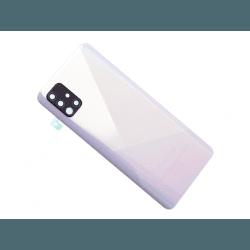 Vitre arrière pour Samsung Galaxy A51 Blanc Prismatique