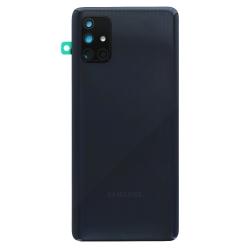 Vitre arrière pour Samsung Galaxy A71 Noir Prismatique