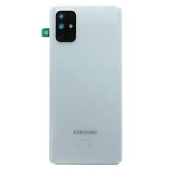 Vitre arrière pour Samsung Galaxy A71 Argent Prismatique photo 2