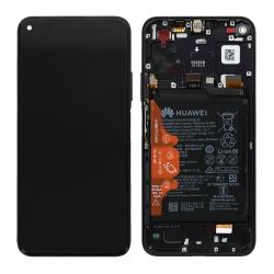 Bloc écran complet pré-monté sur châssis + batterie pour Honor 20 Pro Noir