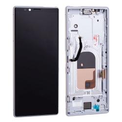 Bloc écran OLED pré-monté sur châssis pour Sony Xperia 1 Blanc