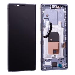 Bloc écran OLED pré-monté sur châssis pour Sony Xperia 1 Gris