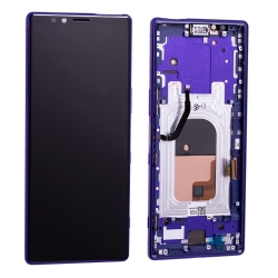 Bloc écran OLED pré-monté sur châssis pour Sony Xperia 1 Violet photo 2