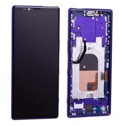 Bloc écran OLED pré-monté sur châssis pour Sony Xperia 1 Violet