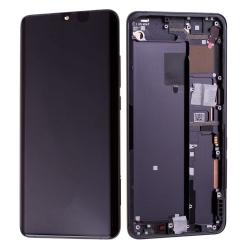 Bloc écran Amoled et vitre pré-montés sur châssis pour Xiaomi Mi Note 10 Noir