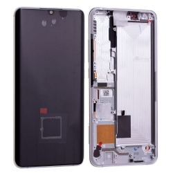 Bloc écran Amoled et vitre pré-montés sur châssis pour Xiaomi Mi Note 10 Blanc