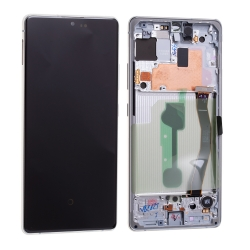 Bloc écran Super Amoled Plus pré-monté sur châssis pour Samsung Galaxy S10 Lite Blanc photo 2