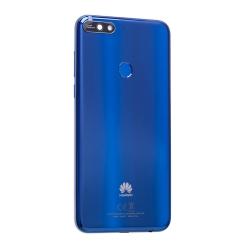 Coque arrière Bleu avec lecteur d'empreinte pour Huawei Y7 2018