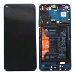 Bloc écran complet pré-monté sur châssis + batterie pour Honor 20 Pro Bleu
