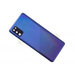 Vitre arrière pour Samsung Galaxy A41 Bleu Prismatique