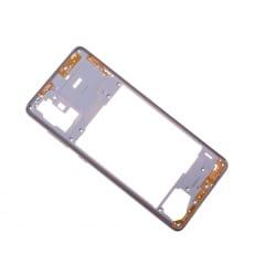 Châssis Intermédiaire pour Samsung Galaxy A71 Argent Prismatique